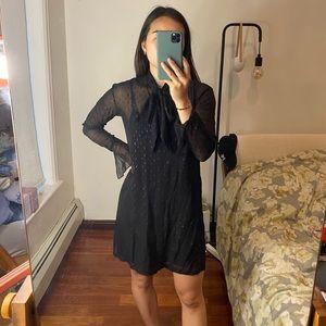 Theory Silk Metallic Dress with Slip